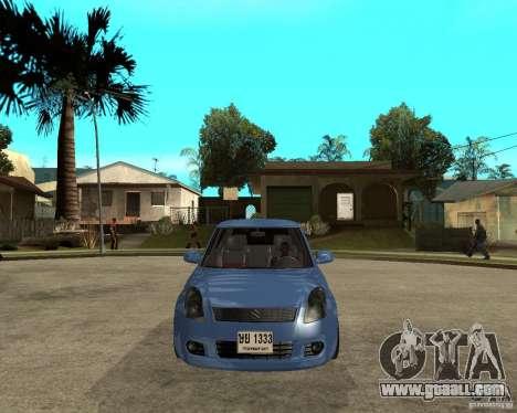 2007 Suzuki Swift for GTA San Andreas back view