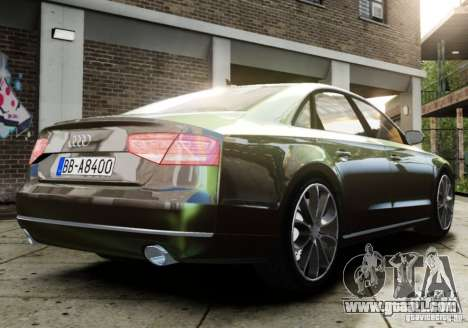 Audi A8 (D4, Typ 4H) 2010 Alpha for GTA 4 left view