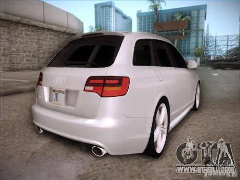 Audi RS6 Avant for GTA San Andreas right view