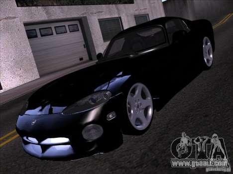 Dodge Viper for GTA San Andreas bottom view