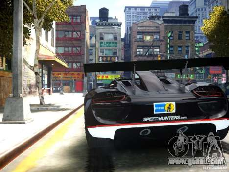 Porsche 918 Spider Body Kit Final for GTA 4 back left view