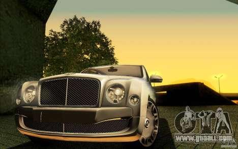 Bentley Mulsanne 2010 v1.0 for GTA San Andreas engine