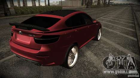 BMW X6 Lumma for GTA San Andreas back view