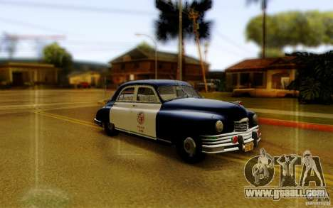 Packard Touring Police for GTA San Andreas back left view