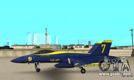 Blue Angels Mod (HQ) for GTA San Andreas left view