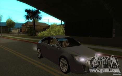 Opel Insignia 2011 for GTA San Andreas back view