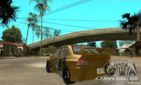 Mitsubishi Lancer Evolution VIII for GTA San Andreas back left view