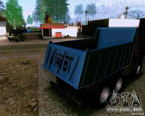 KAMAZ 6520 dump truck for GTA San Andreas back left view