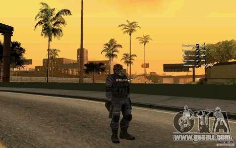 SWAT skin for GTA San Andreas