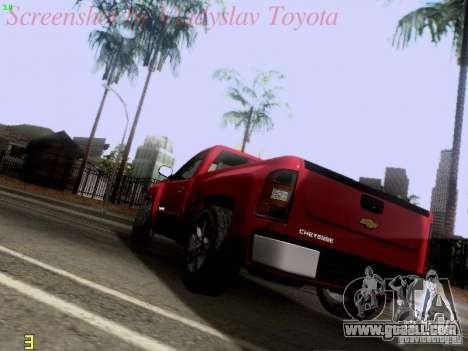 Chevrolet Cheyenne Single Cab for GTA San Andreas back left view