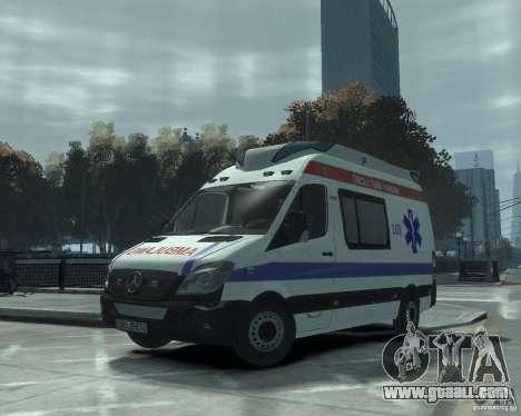 Mercedes-Benz Sprinter Azerbaijan Ambulance v0.1 for GTA 4