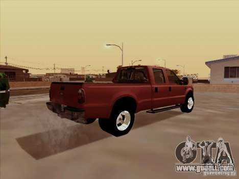 Ford  F350 Super Duty for GTA San Andreas back view