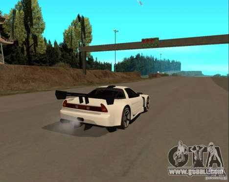 Acura NSX Sumiyaka for GTA San Andreas back left view