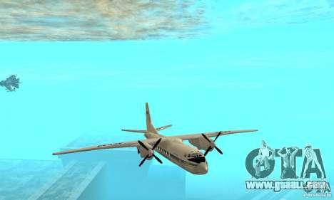 Antonov an-24 for GTA San Andreas side view