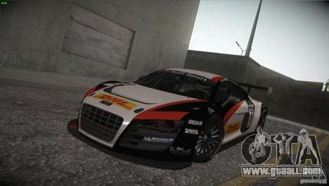 Audi R8 LMS for GTA San Andreas inner view