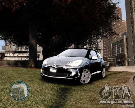 Citroen DS3 2011 for GTA 4 back left view
