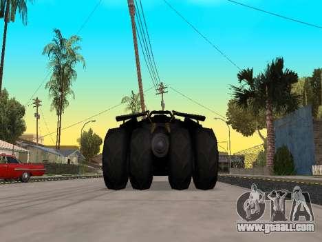 Tumbler Batmobile 2.0 for GTA San Andreas right view