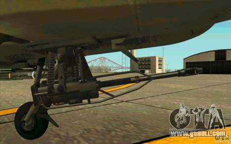 Apache AH64D Longbow for GTA San Andreas inner view