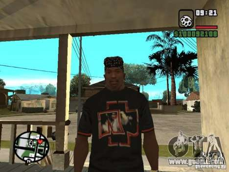 Rammstein t-shirt v2 for GTA San Andreas