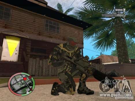 Collection of weapons of Crysis 2 for GTA San Andreas sixth screenshot