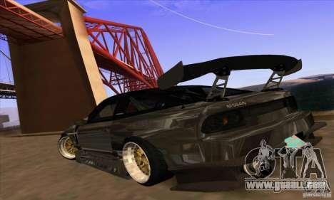Nissan 180SX Gkon - Drift chrome for GTA San Andreas left view