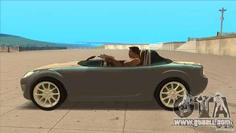 Mazda MX5 Miata Superlight 2009 V1.0 for GTA San Andreas left view