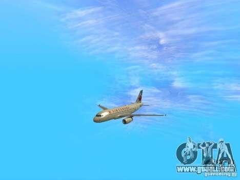 Airbus A319 Air Canada for GTA San Andreas back view