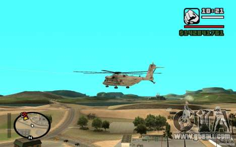 Sikorsky MH-53 with closed hatch for GTA San Andreas back left view