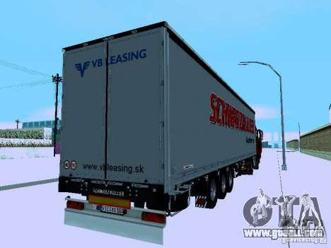 Trailer for Volvo FH13 for GTA San Andreas right view
