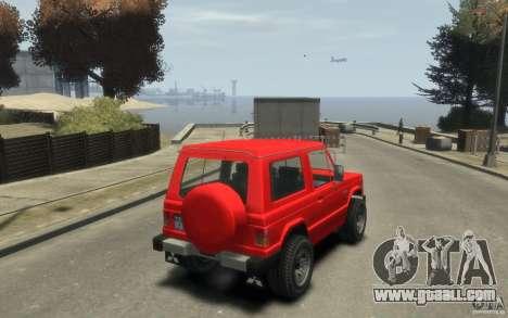 Mitsubishi Pajero I for GTA 4 back view