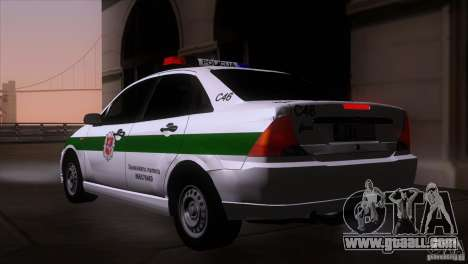 Ford Focus Policija for GTA San Andreas left view