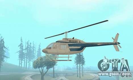 Bell 206B JetRanger II for GTA San Andreas inner view
