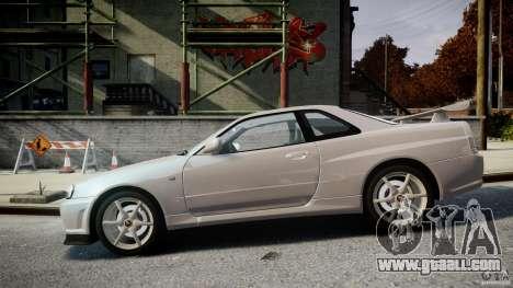 Nissan Skyline GT-R R34 2002 v1 for GTA 4 left view