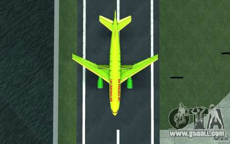 Airbus A310 S7 Airlines for GTA San Andreas back left view