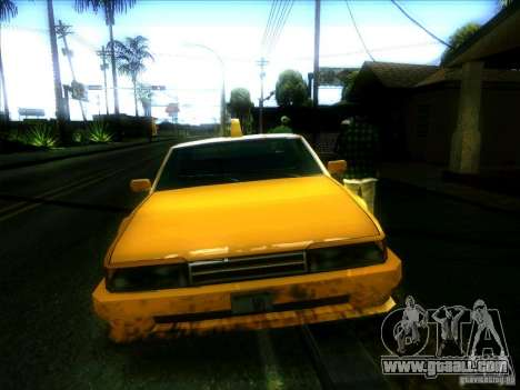 Sunrise Taxi for GTA San Andreas back view