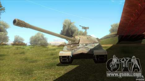 IS-7 Heavy Tank for GTA San Andreas back left view