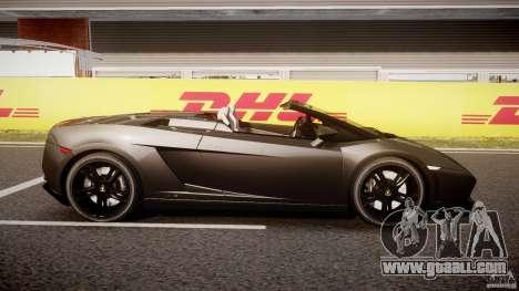 Lamborghini Gallardo LP560-4 Spyder 2009 for GTA 4 inner view