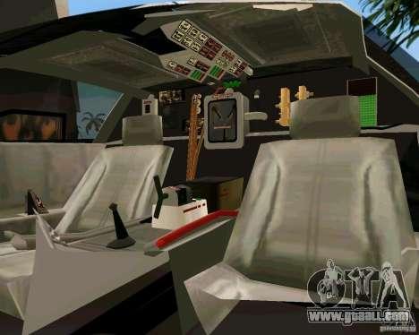 BTTF DeLorean DMC 12 for GTA Vice City back left view
