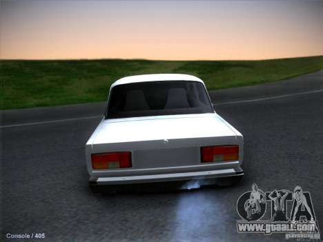 Vaz 2105 stock Quality for GTA San Andreas back left view