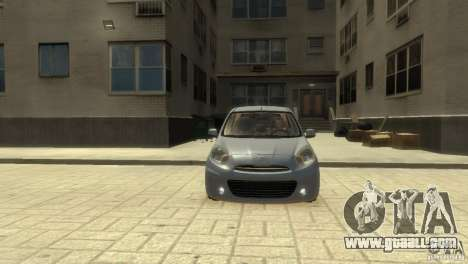 Nissan Micra for GTA 4 left view