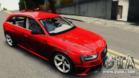 Audi RS4 Avant 2013 v2.0 for GTA 4 back view