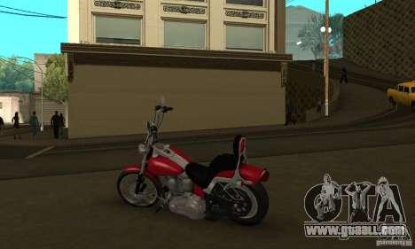 Harley Davidson softail Skin 1 for GTA San Andreas back view