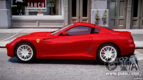 Ferrari 599 GTB Fiorano for GTA 4 back left view