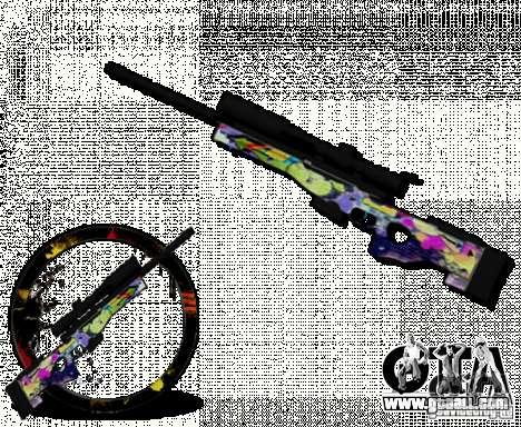 Sniper Grafite for GTA San Andreas