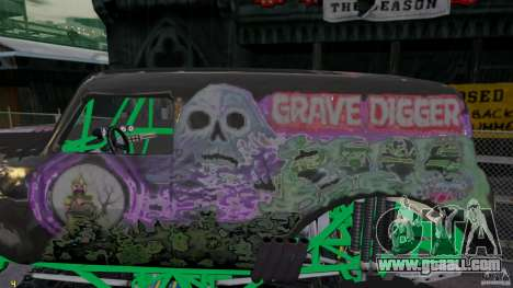 Grave digger for GTA 4 left view