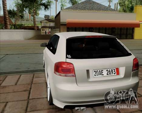 Audi S3 V.I.P for GTA San Andreas right view