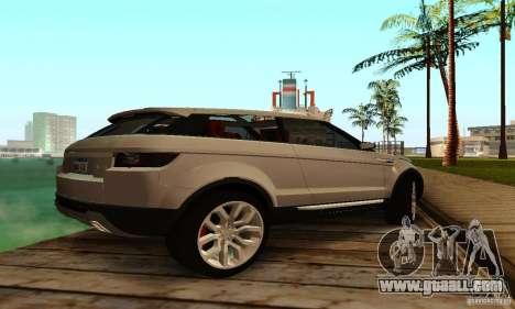 Land Rover Range Rover Evoque for GTA San Andreas right view