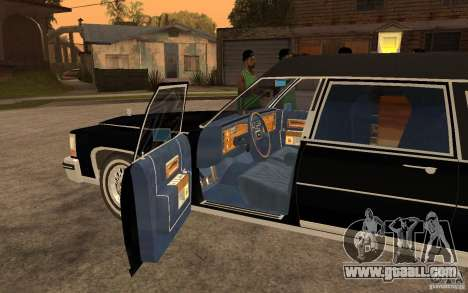 Cadillac Fleetwood Hearse 1985 for GTA San Andreas left view