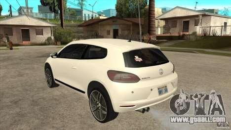 Volkswagen Scirocco 2009 for GTA San Andreas back left view