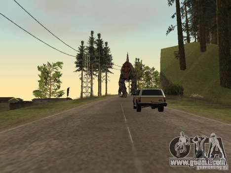 Dinosaurs Attack mod for GTA San Andreas eighth screenshot